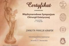 certyfikat-miedzynarodowe-sympozjum-chirurgii-estetycznej